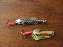 Popas dla łowić jest na drewnianym stole zdjęcie royalty free
