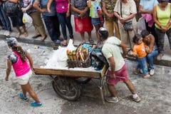 Popayà ¡ n, Colombia - 5 Januari 2014: Svartvit karneval f royaltyfri fotografi