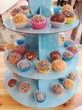 Popcakes colorés Photos libres de droits