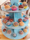 Popcakes coloridos Fotos de Stock Royalty Free