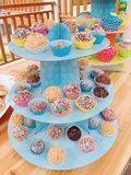 Popcakes coloridos Foto de Stock Royalty Free