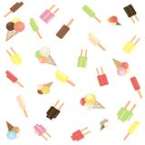 Popsicle and ice cream scatter  Royalty Free Stock Images