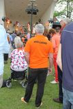 Outdoor pop concert at Kingsday (Koningsdag), Baarn, Netherlands  Stock Image