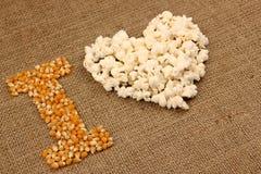 Popcorn αγάπη Στοκ Εικόνες