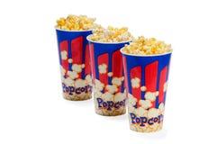 Popcorn κάδοι Στοκ Εικόνα