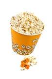 popcorn κάδων εισιτήρια Στοκ Φωτογραφίες