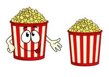 Popcorn κινούμενων σχεδίων χαρακτήρας Στοκ φωτογραφία με δικαίωμα ελεύθερης χρήσης
