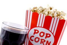 popcorn κόλας Στοκ εικόνα με δικαίωμα ελεύθερης χρήσης