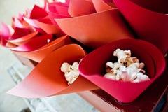 Popcorn κώνοι Στοκ φωτογραφία με δικαίωμα ελεύθερης χρήσης