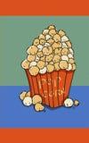 Popcorn ο χρόνος κινηματογράφων απεικόνισης τσιμπά τα τρόφιμα δάχτυλων Στοκ φωτογραφία με δικαίωμα ελεύθερης χρήσης