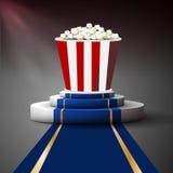 Popcorn στην εξέδρα Στοκ Εικόνες