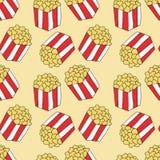 Popcorn σχέδιο συρμένος εικονογράφος απεικόνισης χεριών ξυλάνθρακα βουρτσών ο σχέδιο όπως το βλέμμα κάνει την κρητιδογραφία σε πα ελεύθερη απεικόνιση δικαιώματος
