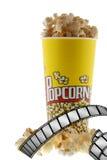 popcorn ταινιών Στοκ Φωτογραφία