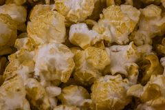 Popcorn υπόβαθρο σύστασης στοκ φωτογραφίες με δικαίωμα ελεύθερης χρήσης