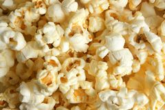 Popcorn. Photo of delicious white popcorn background stock images