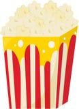 Popcorn. Illustration of popcorns on white Stock Photos