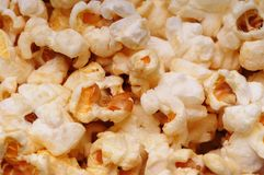 Popcorn. A close up of a pile popcorn Royalty Free Stock Images