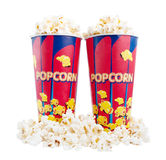 Popcorn. On a wite background Royalty Free Stock Photos