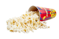 Popcorn. On a white background Royalty Free Stock Images