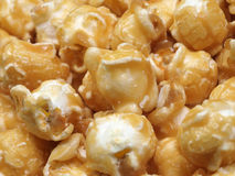 Popcorn. Macro of toffee coated popcorn Royalty Free Stock Photos