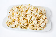 Popcorn. Dish on white background Stock Photo