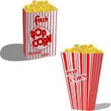 Popcorn. Illustration of popcorn for cinema teater Stock Photos