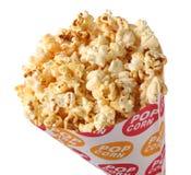 Popcorn. Bucket of Popcorn on white background Stock Images
