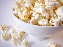 Popcorn 2. Popcorn in white bowl royalty free stock images