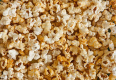 Popcorn. Background. food eating textured macro Royalty Free Stock Photo