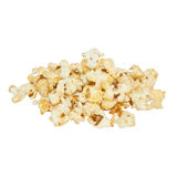 Popcorn. A stack of popcorn over white Royalty Free Stock Images