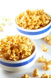 Popcorn. Two bowl of popcorn on clean background Stock Photo