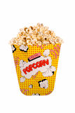 Popcorn. Isolated on white royalty free stock photos