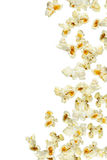 Popcorn. Fresh popcorn falling, close up Stock Photos