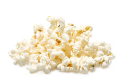Popcorn. A pile of salted popcorn isolated on white background Stock Image