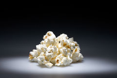 Popcorn. Highlighted pile of salted popcorn. Copyspace provided Stock Images