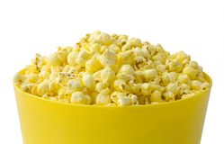 Popcorn. Isolated popcorn on white background Royalty Free Stock Images