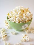 Popcorn 4. Popcorn in a green bowl royalty free stock photos
