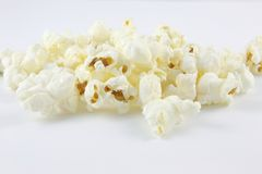Popcorn. Isoltaed Photo of Popcorn on white background Royalty Free Stock Image