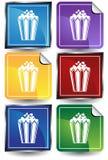 Popcorn - 6 Sticker Stock Images