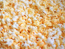 Popcorn. Close up of the buttered popcorn Stock Photo