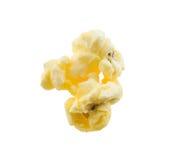 Popcorn. Close-up single piece of popcorn isolated on white Royalty Free Stock Photo