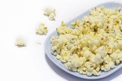 Popcorn al piatto Fotografia Stock Libera da Diritti