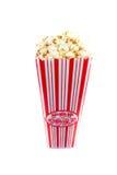 Popcorn auf Weiß stockbilder