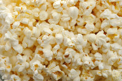 Popcorn background. Ready yellow popcorn close up Stock Images