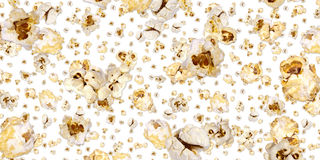 Popcorn background (on white) Stock Images