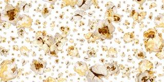 Popcorn background (on white) stock images