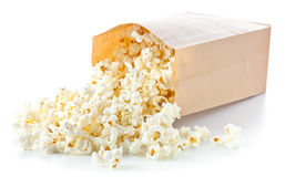 Popcorn bag. On white background royalty free stock images