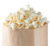 Popcorn bag. On white background stock photography
