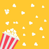 Popcorn bag. Cinema icon in flat design style. Vector illustration Stock Image