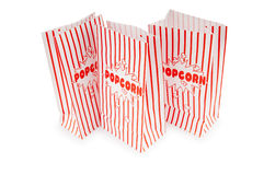 Popcorn bag isolated on the white Royalty Free Stock Image